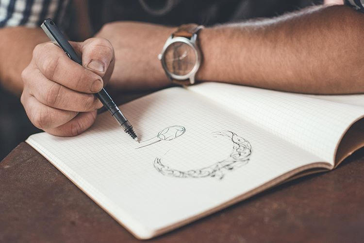 Jorge Real Drawing a Ring Design
